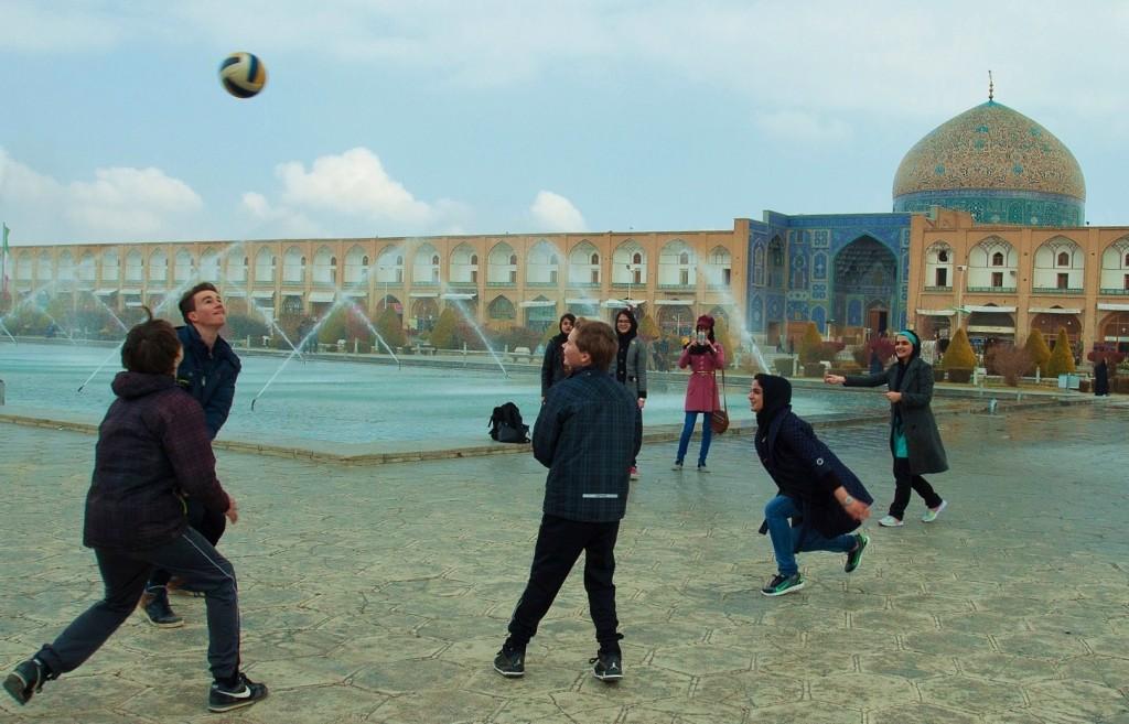op reis in Esfahan