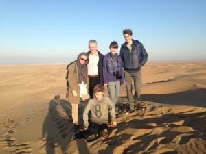 met het gezin in Iran op vakantie