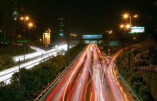 verkeersader in Tehran