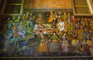 Muurschildering Chehel setoon