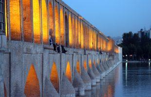 de 33 pol brug van Esfahan