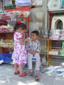 spelende Iraanse kinderen