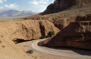 woestijnrivier bij Yazd